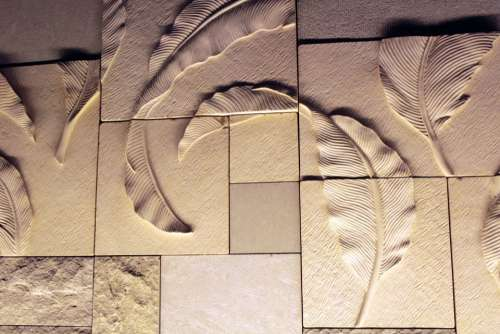 Leaves Wall Leaves Wall Decoration Sculpture Rough