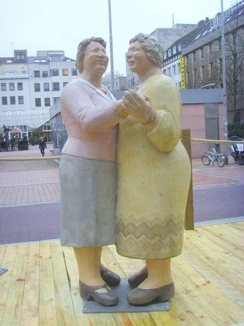 Lechner Sculpture Arts Couple Dancing Dancers