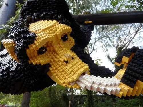 Legoland Lego Blocks Lego Building Blocks Monkey