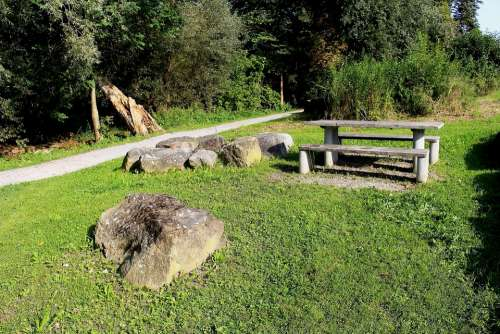 Leisure Edge Of The Woods Barbecue Area Table