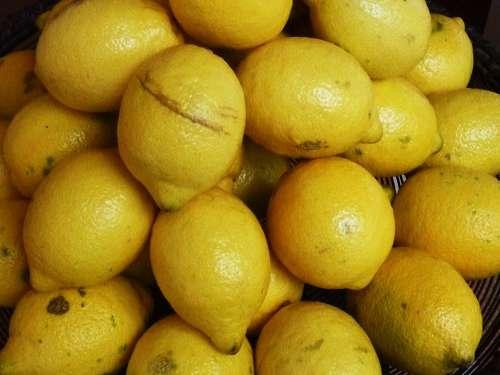 Lemons Citrus Fruits Fruit Vitamins Healthy Yellow