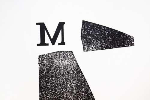 Letter M Lead Set Font Set Commercial