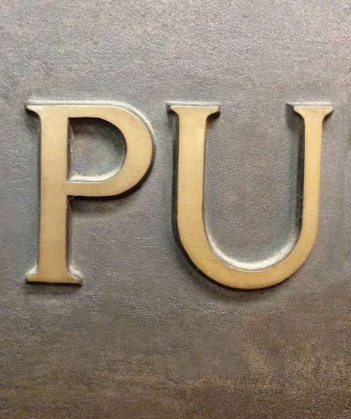 Letters Letter Pu Gold