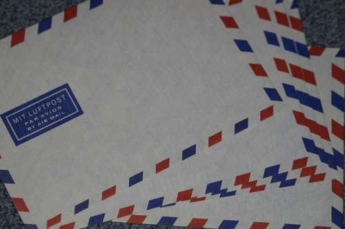 Letters Air Letter Air Mail Envelopes Post Paper