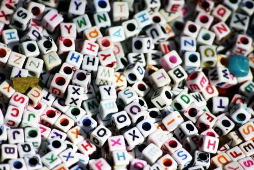 Letters Dices Cubes Game