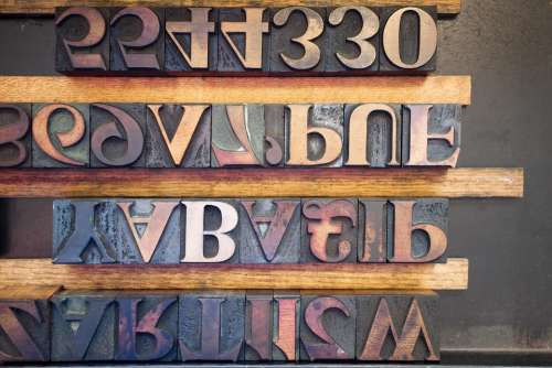 Letters Wooden Alphabet Letters Serifs Book Printing