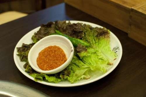 Lettuce Vegetable Food Ssam Jang Miso