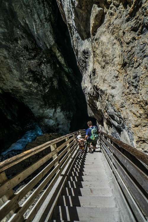 Liechtensteinklamm Gorge Austria Water Rocks