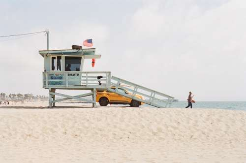 Lifeguard Tower Beach Sand Coast Guard Watch