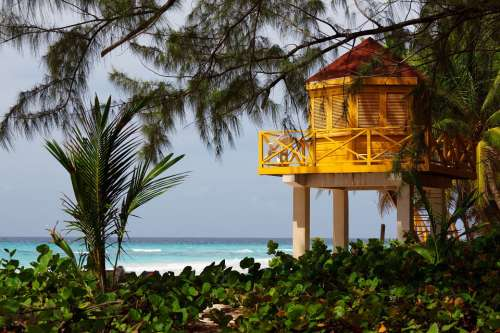 Lifeguard Beach Tower Life Yellow Safety Guard