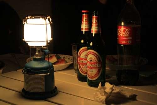 Light Beer Torch Gaslight Evening Camping
