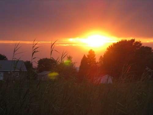 Light Sun Sunrise Sunset Nature Landscape