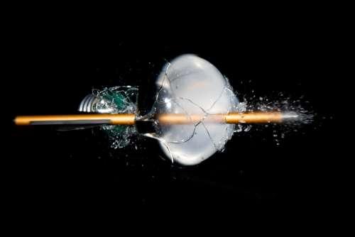 Light Bulb Light Fragile Pear Explosion