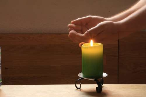 Light Timer Flame Candle Shining Romantic Holy