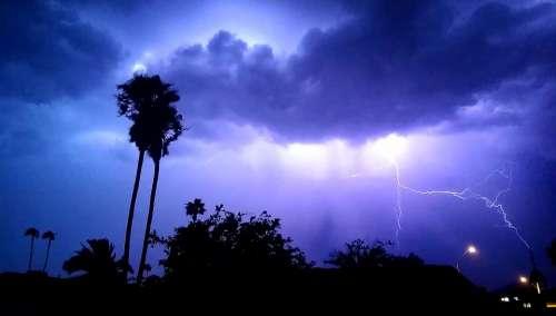 Lightening Storm Night Clouds Dark Thunder
