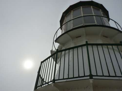 Lighthouse California Cloudy Upwards Fresnel Lens