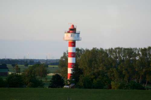 Lighthouse Tower Building House Red Maritime
