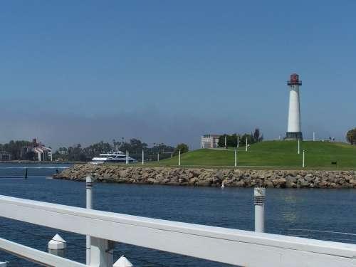 Lighthouse Ports O Call Long Beach Harbor Landscape