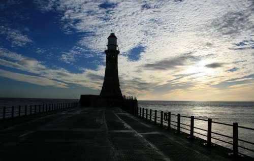 Lighthouse Scenic Water Sunlight Sunrise River