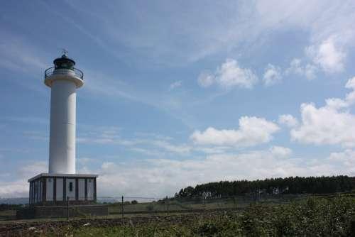 Lighthouse Asturias Light Blue Sky