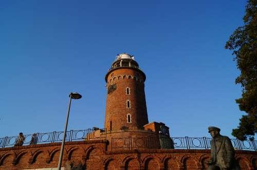 Lighthouse Kołobrzeg Poland Baltic Sea