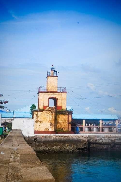 Lighthouse Pier Nature Maritime Port Landmark Sea