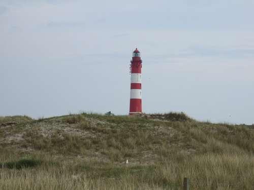 Lighthouse North Sea Island Wadden Sea
