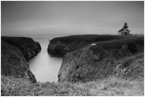 Lighthouse Shoreline Ocean Travel Sea Coast Bay