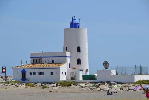 Lighthouse Lantern Spain Summer