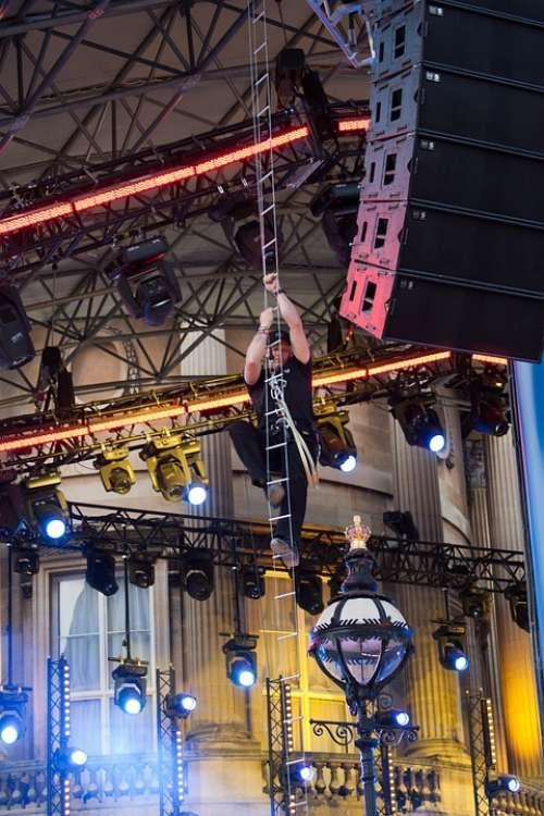 Lighting Rigger Wire Ladder Climbing Stage Lighting