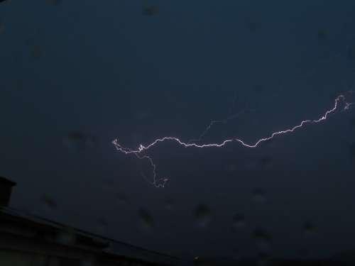 Lightning In The Evening Storm