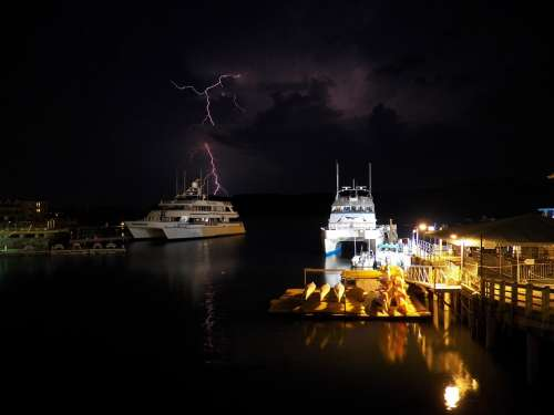 Lightning Storm Stormy Sky Thunder Storm