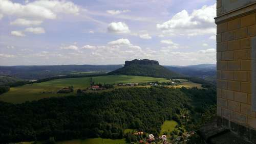 Lily Stone Panoramic View To The Lilienstein