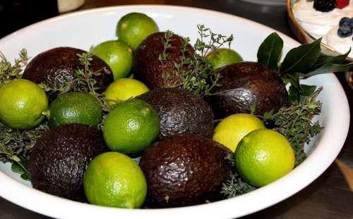 Limes Avocado Vegetable
