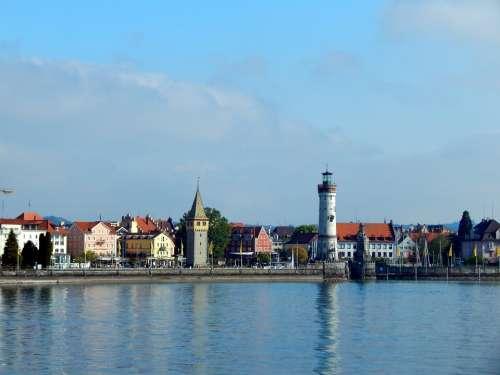 Lindau Lake Constance Lighthouse Germany Lake