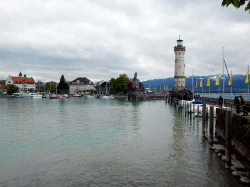 Lindau Lake Constance Lighthouse Germany Lake