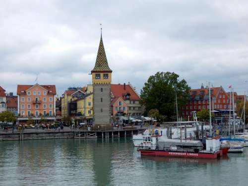 Lindau Lake Constance Ship Germany Lake Water