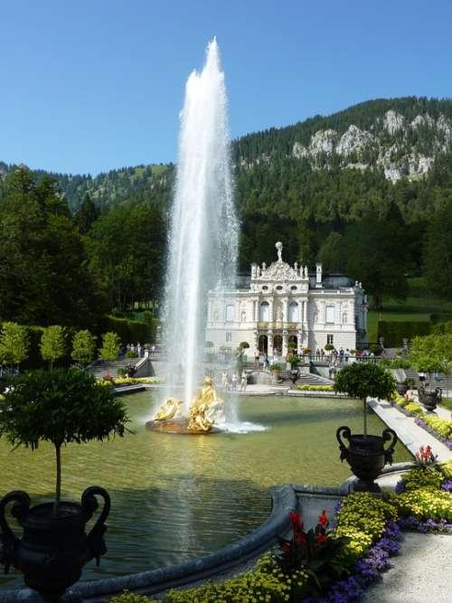 Linderhof Fountain Palace Pond