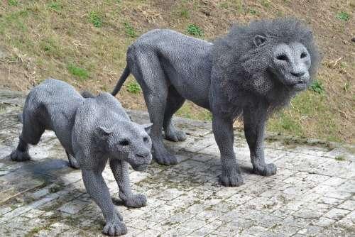 Lion Statue Craft Animal