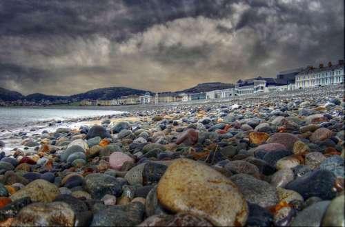Llandudno Beach Sea Sky Clouds Colorful Nature