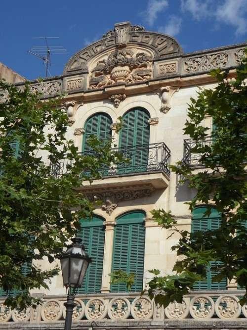 Llucmajor Art Nouveau Facade Bowever House Facade