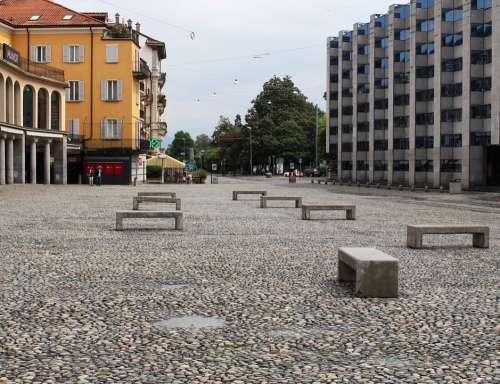 Locarno Space Piazza Grande Cobblestones Houses