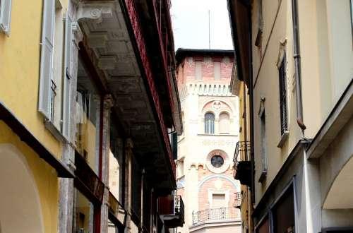 Locarno Historic Center Alley Architecture Ticino