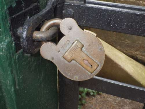 Lock Padlock Security Closed Entry Metal Door