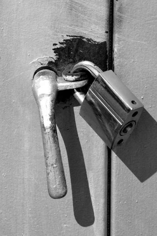 Lock Monochrome Close-Up Clasp Macro Fastener