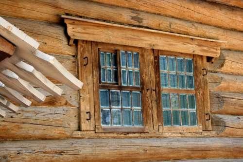 Log Cabin Wood Cabin Hut Rich Brownwood Color
