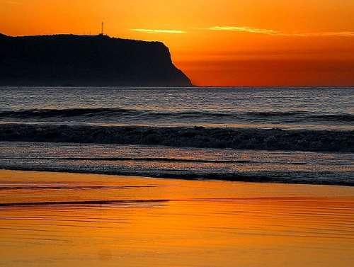 Loma Point Sunset Landscapes Nature