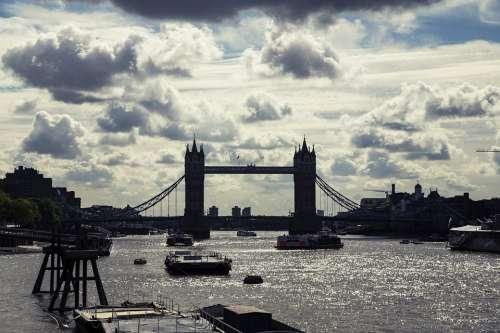 London London Bridge Sky Scenery Skyline Sunset