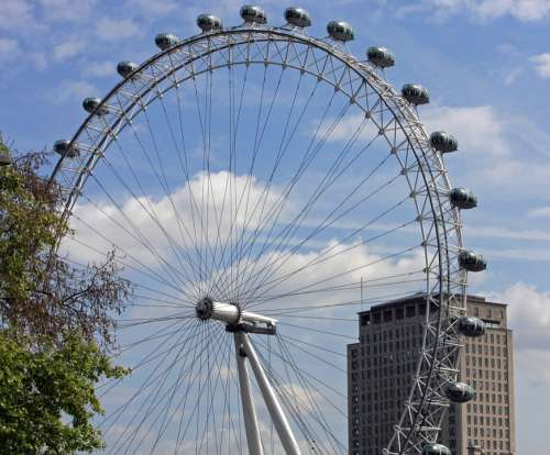London Eye Millennium Wheel Wheel Ferris Wheel