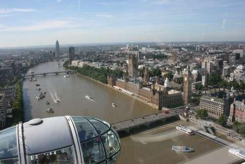 London Eye A View Of London River Thames London